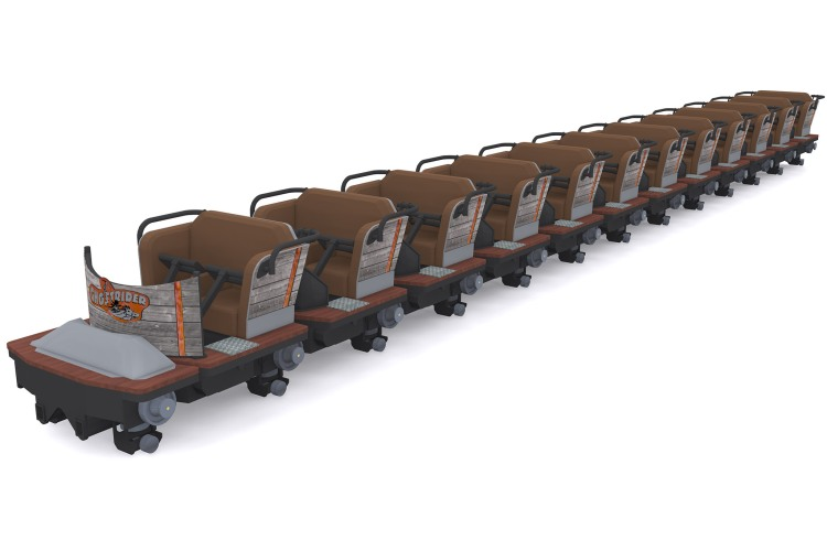 GhostRider's new Millennium Flyer Trains. Image from of Knott's Berry Farm.